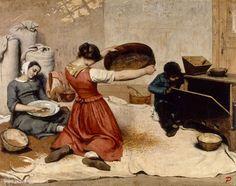 COURBET Gustave (1819-1877), Les cribleuses de grains, 1854, huile sur toile, 131x167 cm, Nantes, Musée des Beaux-Arts.