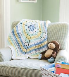 Loops & Threads® Country Loom™ Baby From The Middle Crochet Blanket