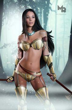 Sexy Disney Princess Pocahontas | Disney Princesses Reimagined as Sexy & Dangerous Warriors