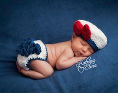 Recién nacido marinero chica foto Prop/marinero por WillowsGarden