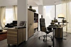 Contemporary Home Office Furniture Ideas. Home Office Design Ideas. 30081218 Home Office Cupboard Designs. 5 Home Office Decorating Ideas Contemporary Home Office Furniture, Modern Home Offices, Modern Office Design, Home Office Desks, Office Interior Design, Office Interiors, Office Designs, Cabin Office, Contemporary Desk