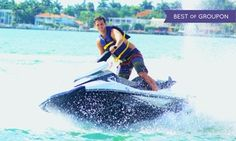 Groupon - Jet Ski Rentals and Jet Boat Miami Tours (Up to 53% Off). Three Options Available.  in Downtown Miami. Groupon deal price: $62