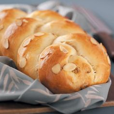 "Sweet Braided Loaves Recipe -""This recipe was handed down from my grandmother. I make it for my family every year for Easter morning. Easter Bread Recipe, Easter Recipes, Croissants, Loaf Recipes, Cooking Recipes, Braided Bread, Our Daily Bread, Bread And Pastries, Bread Rolls"