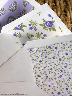 Shopgirl: Fabric LIned Envelopes