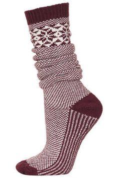 Long Snowflake Slipper Socks - Tights & Socks  - Bags & Accessories