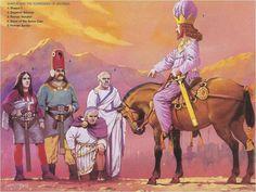 Angus McBride - Sapor I de Persia captura al emperador Valeriano - 260 DC