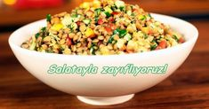 Abnehmen von Salat Making von Ayça Kaya - Saladd Healthy Foods To Eat, Healthy Life, Healthy Eating, Healthy Recipes, Kaya, Clean Eating, How To Make Salad, Fried Rice, Salad Recipes
