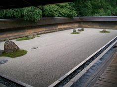 "Kyoto, Japan ...Original ""Rock Garden"" ...15 strategically placed rocks in white gravel, feel the Zen."