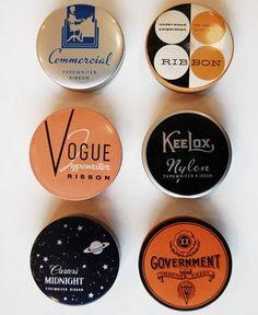 Vintage make up packaging