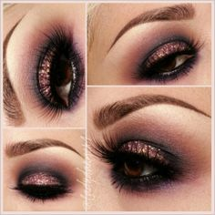 .@Diana Avery Sanchez | Yesterday's make up look. On my eye lids Fig 1 shadow with #3 glitter on top ... | Webstagram