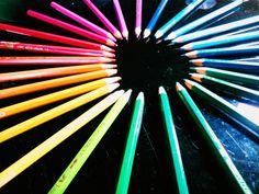 Rainbow pencil colour..