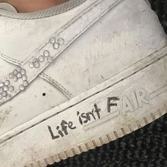 Misfashioned Sneakers on Life isnt fair Aesthetic Shoes, Aesthetic Grunge, Quote Aesthetic, Aesthetic Pictures, Aesthetic Vintage, Aesthetic Anime, Photo Wall Collage, Picture Wall, Picture Quotes
