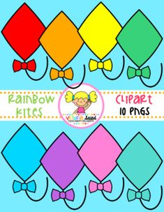 My Rainbow Kites Clipart Free set has 10 pngs & all blacklines are included!!! I've created these Rainbow Kites in a variety of bright rainbow colors!This set includes the following colors:red, orange, yellow, green, blue, purple, pink, teal, & olive greenMy rainbow kites are perfect for creating product covers, printables, games, worksheets, units, games, cards, centers, stations, bookmarks...the possibilities are endless!***The font used in our preview is a CC Font.***Each of my ima...