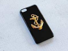 Cute iPhone 5c Case Black iPhone 5c Case Anchor by CaseCavern, $15.99