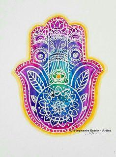 #hamsa #zentangles #eye #mandala #colourful