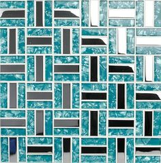 Glass mosaic tiles silver stainless steel mosaic tile backsplash SSMT079 blue glass mosaic tiles for swimming pool mosaic tiles