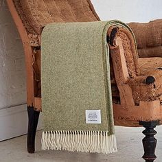 Green Herringbone Throw by Bottle Green Homes, the perfect gift for Explore more unique gifts in our curated marketplace. Brown Throws, Large Throws, Green Sofa, Fabric Purses, Duck Egg Blue, Sofa Throw, Herringbone Pattern, Gifts For Mum, Wash Bags