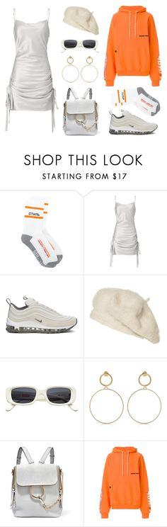 """#29"" by wayan-p on Polyvore featuring Heron Preston, Zimmermann, NIKE, Zara, Maria Francesca Pepe, Chloé, StreetStyle, white, chloe and fashionset"