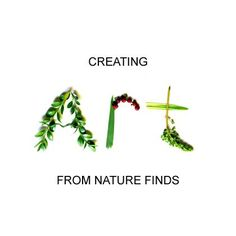 How to Create Words from Nature Finds - I think we'll make the alphabet and our names on our camping trips.