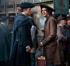 New picture of Sam Heughan as Jamie Fraser and César Domboy as Fergus Fraser - Outlander_Starz Season 3 Voyager - August 24th, 2017