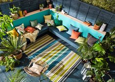 How To Make Curtains, Made To Measure Curtains, Nautical Wallpaper, Indoor Outdoor Rugs, Outdoor Decor, How To Hang Wallpaper, Outdoor Garden Furniture, Striped Rug, Scion
