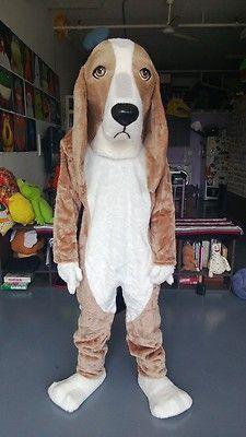 Basset Hound Dog Mascot Costume Suit Halloween - READY TO SHIP