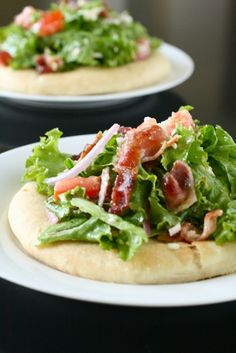 BLT Pizza- I actually think the recipe is a little too complicated, but the general recipe and concept is adaptive. Yum.