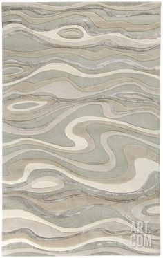 Strict stripes are a thing of the past! Hit the floor with a linear yet fluid pattern. - Modern Classics Plush Sand Dune Rug - Ivory/Taupe/Gray 5' x 8' from Art.com