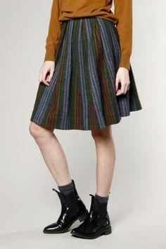 Vintage 1960s Wool Cashmere Pleated Skirt #1960s #skirt #cashmere #wool #thriftedandmodern