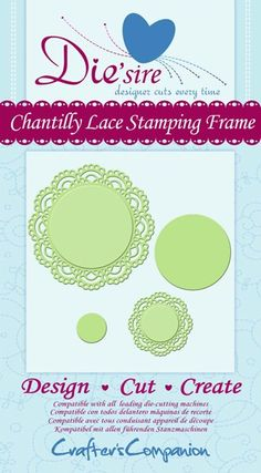 Die'sire Decorative Dies - Chantilly Lace Stamping Frame