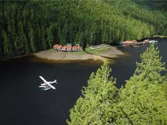 Nestled in the middle of the Great Bear Rainforest in British Columbia, Canada, is the cozy and family-owned Nimmo Bay Wilderness Resort. With nine cabins that have stunning views of the surrounding bay, the resort offers excursions like lunches atop glaciers and helicopter wilderness tours.