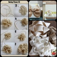 Burlap Embellishments for Gift Packaging