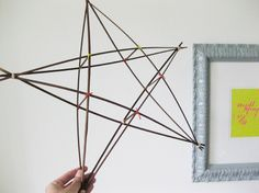 I know I'm getting ahead of myself, but I love this DIY star for a tree.