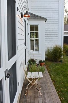 Back deck in Norwich - plants and a bistro table? by Justine Hand