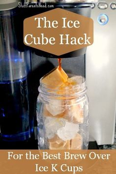 Such a smart tip for how to take your brew over ice k cups to the next level! Your iced coffee Keurig love is about to grow folks! #BrewOverIce #shop #coffeedrinks