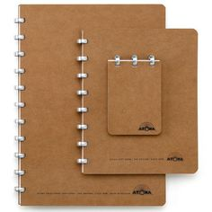 ATOMA Notizheft A5 blanko Braun | Notizblöcke und -hefte #stationery