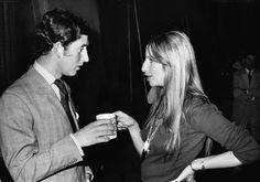 Barbra Streisand meets Prince Charles, 1970.