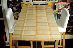 Old book table - IKEA Hackers