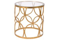 Spray paint an old outdated table to match your decor ~Grace Table, Gold on OneKingsLane.com - available for purchase~