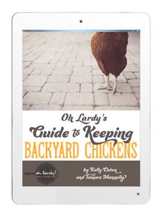 Oh Lardy's Guide to Keeping Backyard Chickens Are You…  We are so excited to present our e-book Oh Lardy's Guide to Keeping Backyard Chickens to you! You will answer these questions and more! …