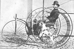 dog-powered velocipede from 1875