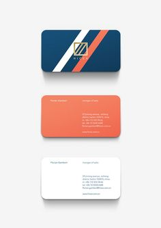 Gorgeous mini business card design. Looks like Moo mini cards? Love the color palette.