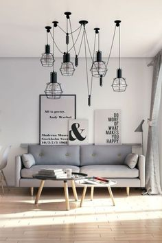 It's very easy to recognize a Scandinavian living room design and decoration. But there isn't just one Scandinavian style but several and they all have certain elements in common. One of the most basic characteristics of this style is natural wood. Nordic Living Room, Living Room Interior, Home Living Room, Apartment Living, Living Room Designs, Living Room Furniture, Scandinavian Living, Rustic Apartment, Apartment Nursery