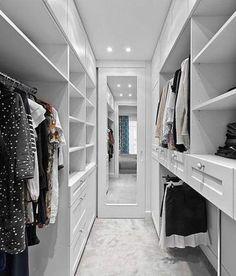 White wardrobe ideas bedroom closet design, walk in closet design, master. Bedroom Closet Storage, Bedroom Closet Design, Master Bedroom Closet, Master Suite, Bedroom Boys, Trendy Bedroom, Bedrooms, Closet Renovation, Closet Remodel