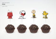 Topper para docinho - Snoopy