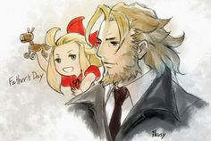 Edea Lee and her Father (Bravely Default)