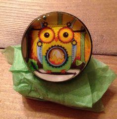 Mechanical Owl Art Ring by amyweberart on Etsy