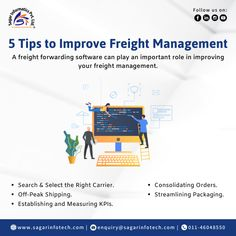 Want to improve #Freight Management? Here are the 5 tips, A #freightforwarding software can play a really important role in improving your #freightmanagement. To know more visit: www.sagarinfotech.com or email us at: enquiry@sagarinfotech.com Quick Contact: +919311746788, +919311133772 #OnlineSoftware #TransportManagementSoftware #LogisticsManagementSoftware #ImproveOperations #LogisticsSoftware #CloudBasedSolution #TransportationSolutions #FreightForwardingSoftware… Cloud Based, Supply Chain, Communication, Transportation, Improve Yourself, Software, Management, Play, How To Plan