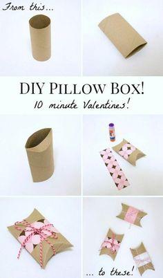 idée comment recycler un rouleau de toilette, une bande de papier décorative à motifs floraux, fabriquer une boite en carton
