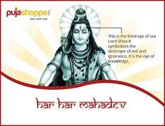 #KhowYourGod !! Har Har #Mahadev !! The third eye to #Lord #Shiva is the eye of knowledge. It symbolizes the destruction of evil and ignorance. #PujaShoppe